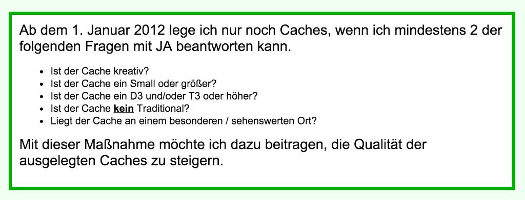 """P12/17 Regeln, adaptiert von """"ichel´s"""", von seiner Seite www.cachewerkstatt.de"""